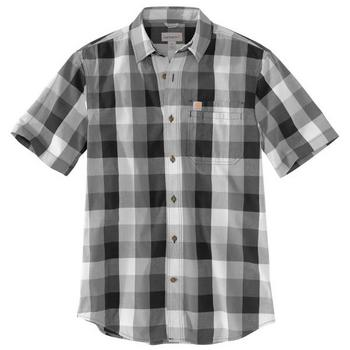 Carhartt Men's Essential Plaid Open Collar Short Sleeve Shirt #103551